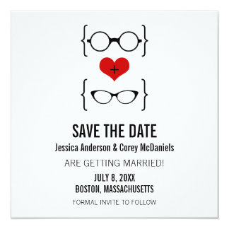 Geeky Glasses Save the Date Announcement