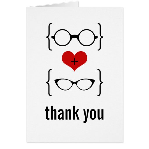 Geeky Glasses Thank You Card
