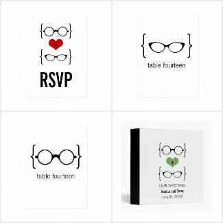 Geeky Glasses Wedding Collection