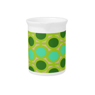 Geeky Green Eyelets Drink Pitcher