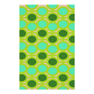 Geeky Green Eyelets Stationery