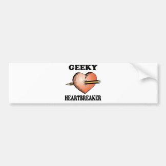 GEEKY HEARTBREAKER CAR BUMPER STICKER