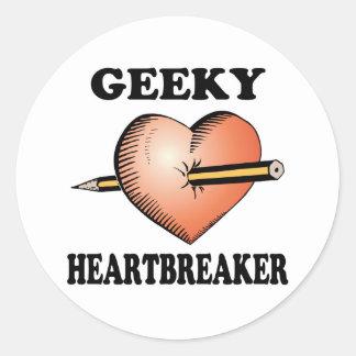 GEEKY HEARTBREAKER CLASSIC ROUND STICKER