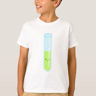 Geeky kawaii test tube T-Shirt