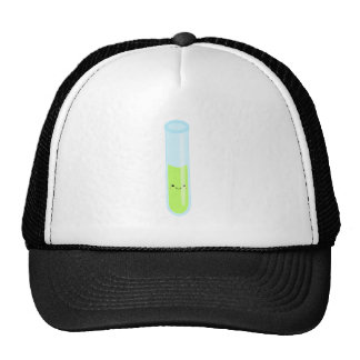 Geeky kawaii test tube trucker hat