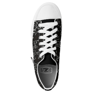 Geeky Math Mathematics Black Low Top Shoes