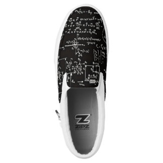 Geeky Math Mathematics Black Slip Ons