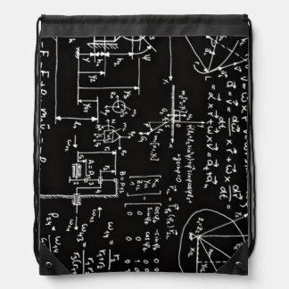 Geeky Math Mathematics Drawstring Backpack