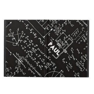 Geeky Math Mathematics Nerd Personalized iPad Air Cover
