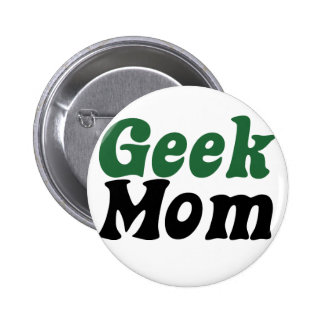 Geeky Mom Pinback Button