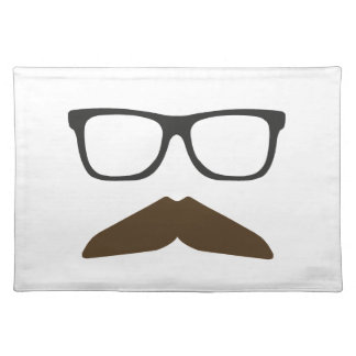 Geeky Moustache Placemats