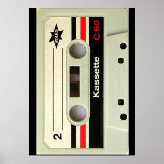Geeky nerdy 1980s cassette retro cassette tape poster