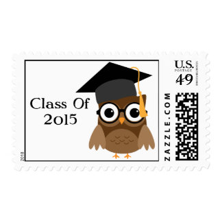 Geeky Owl | Class Of 2015 Graduation Stamp