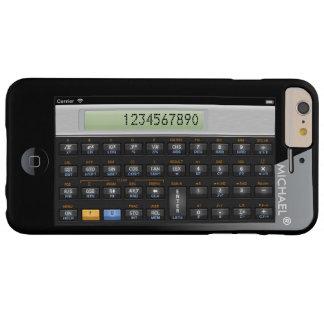 Geeky personalizada calculadora divertida de la funda de iPhone 6 plus barely there