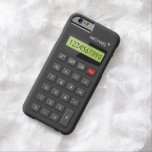 Geeky personalizada calculadora divertida funda de iPhone 6 barely there