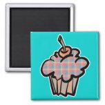 geeky plaid cupcake fridge magnets
