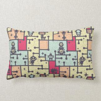 geeky robot maze pattern vector pillow
