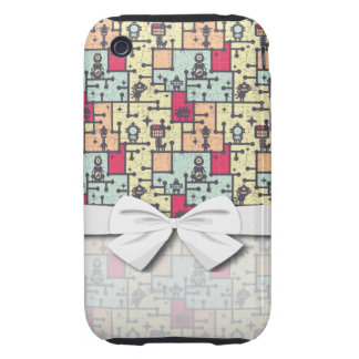 geeky robot maze pattern vector tough iPhone 3 cover