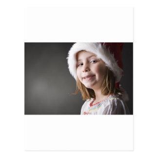geeky santa elf postcard