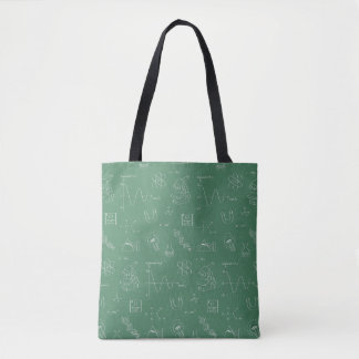 Geeky Science Doodles Pattern Tote Bag