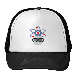Geeky Skull and Atom Trucker Hat