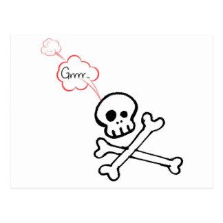 Geeky Skull Postcard