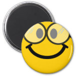 Geeky smiley 2 inch round magnet