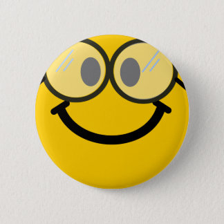 Geeky smiley button