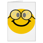Geeky smiley card