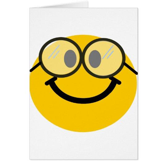Geeky smiley card