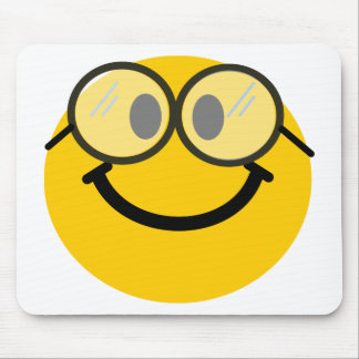 Geeky smiley mouse pad