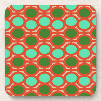 Geeky Two Toned Green Bubble Eyelets Drink Coaster
