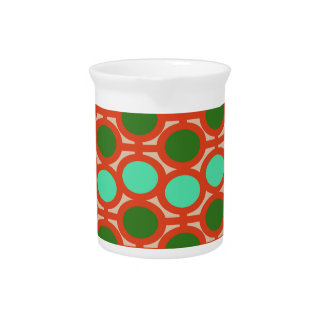 Geeky Two Toned Green Bubble Eyelets Drink Pitcher