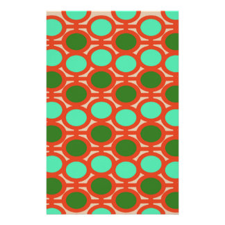 Geeky Two Toned Green Bubble Eyelets Stationery