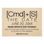 Geeky Typography 2 Save the Date Invite, Black