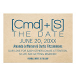 Geeky Typography 2 Save the Date Invite, Blue