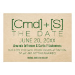 Geeky Typography 2 Save the Date Invite, Green
