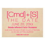 Geeky Typography 2 Save the Date Invite, Pink