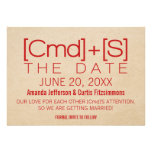 Geeky Typography 2 Save the Date Invite, Red