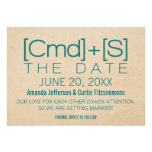 Geeky Typography 2 Save the Date Invite, Teal