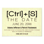 Geeky Typography Save the Date, Black 5x7 Paper Invitation Card