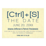 Geeky Typography Save the Date, Blue Custom Invitation