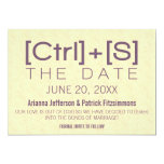 Geeky Typography Save the Date, Purple 5x7 Paper Invitation Card