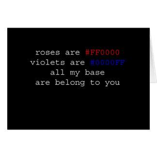 Geeky Valentine Greeting Card