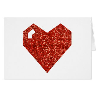 geeky valentines day heart card