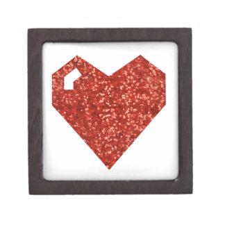 geeky valentines day heart keepsake box