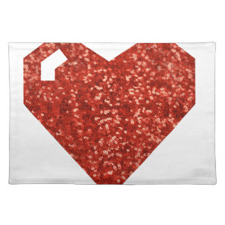 geeky valentines day heart placemat