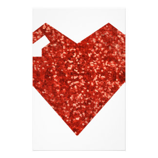 geeky valentines day heart stationery