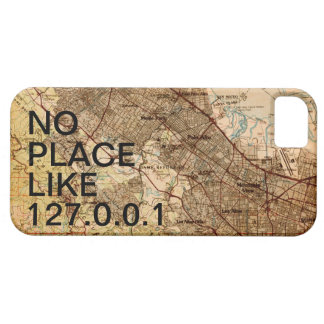 Geeky Vintage Silicon Valley Map iPhone Case iPhone 5 Case