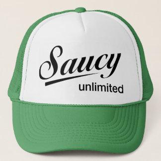 Geen Trucker Hat / black Saucy Unlimited logo